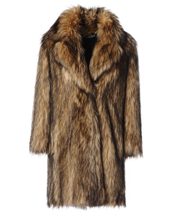 Wolf Fur Coat >> Redvalentino Faux Wolf Fur Coat Coat For Women Redvalentino E