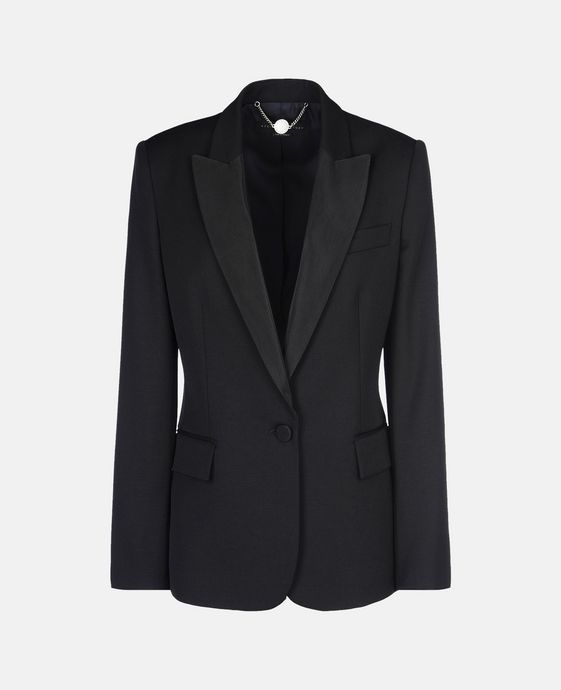STELLA McCARTNEY Black Tuxedo Ingrid Jacket Blazer D c