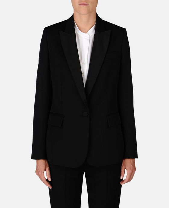 STELLA McCARTNEY Black Tuxedo Ingrid Jacket Blazer D h