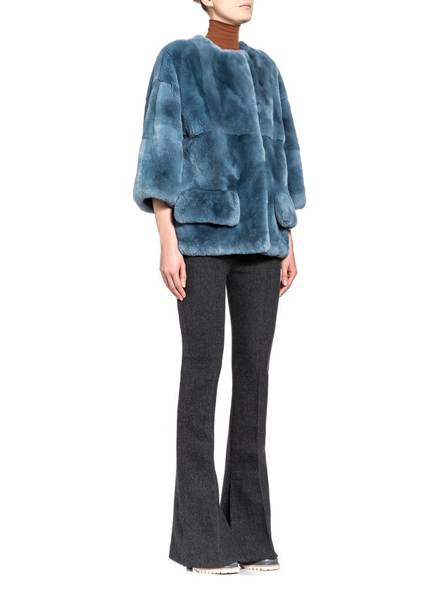 Marni Jacket in rex rabbit with jersey lining Woman - 4