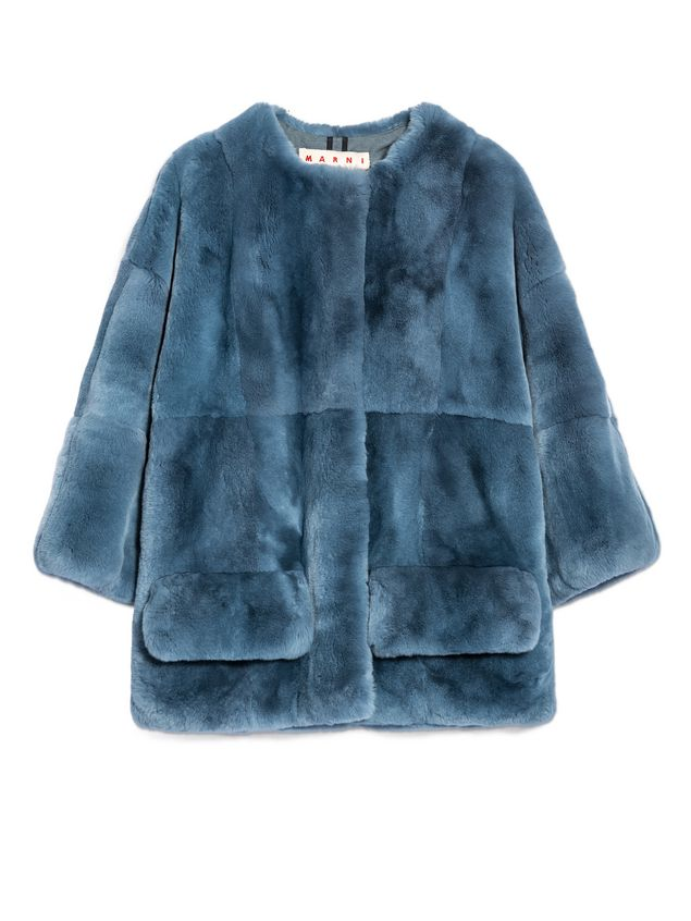 Marni Jacket in rex rabbit with jersey lining Woman - 2