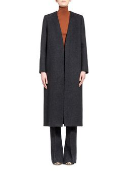 Marni Runway coat in herringbone felt Woman