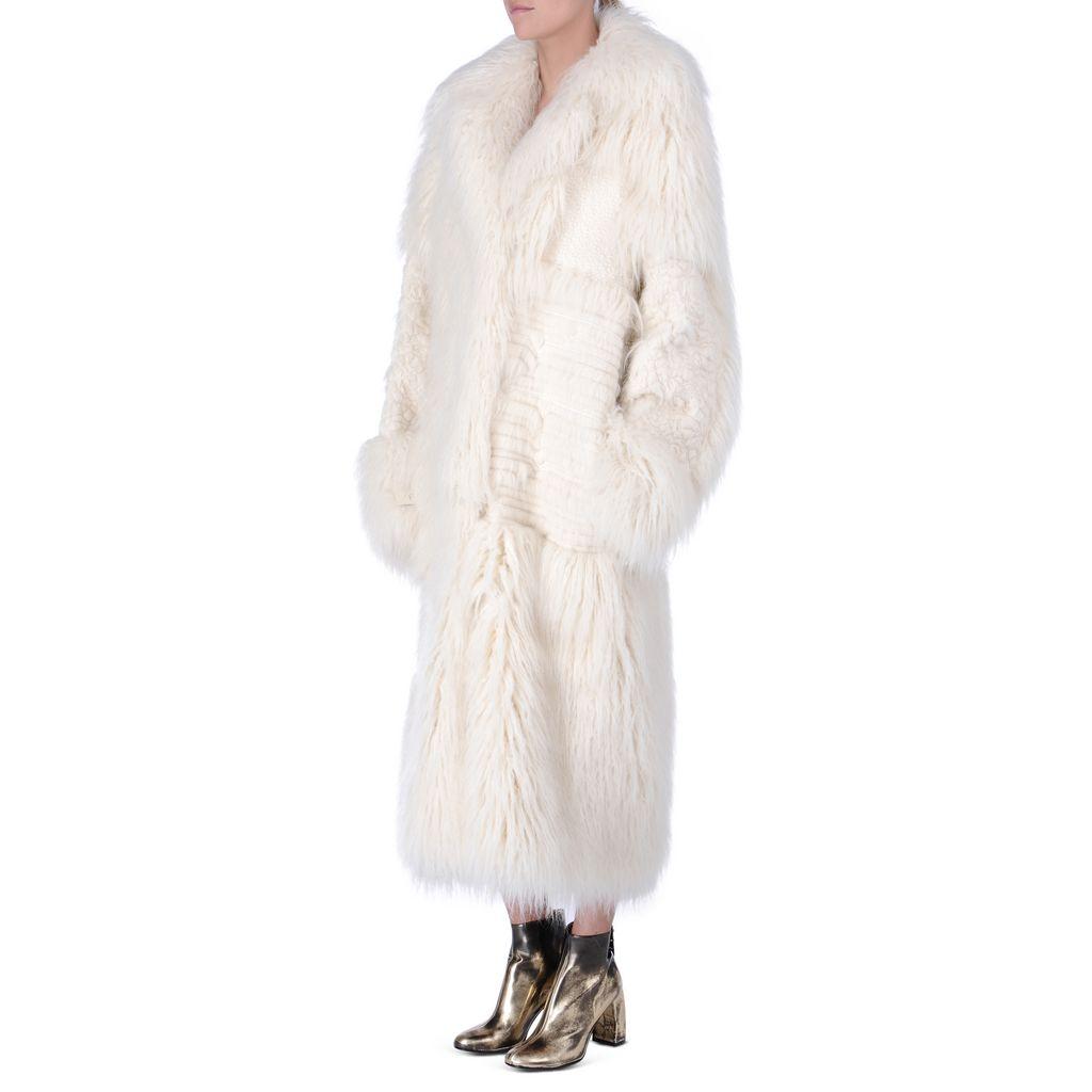 Fur Free Fur Ivory Nyla coat - STELLA MCCARTNEY