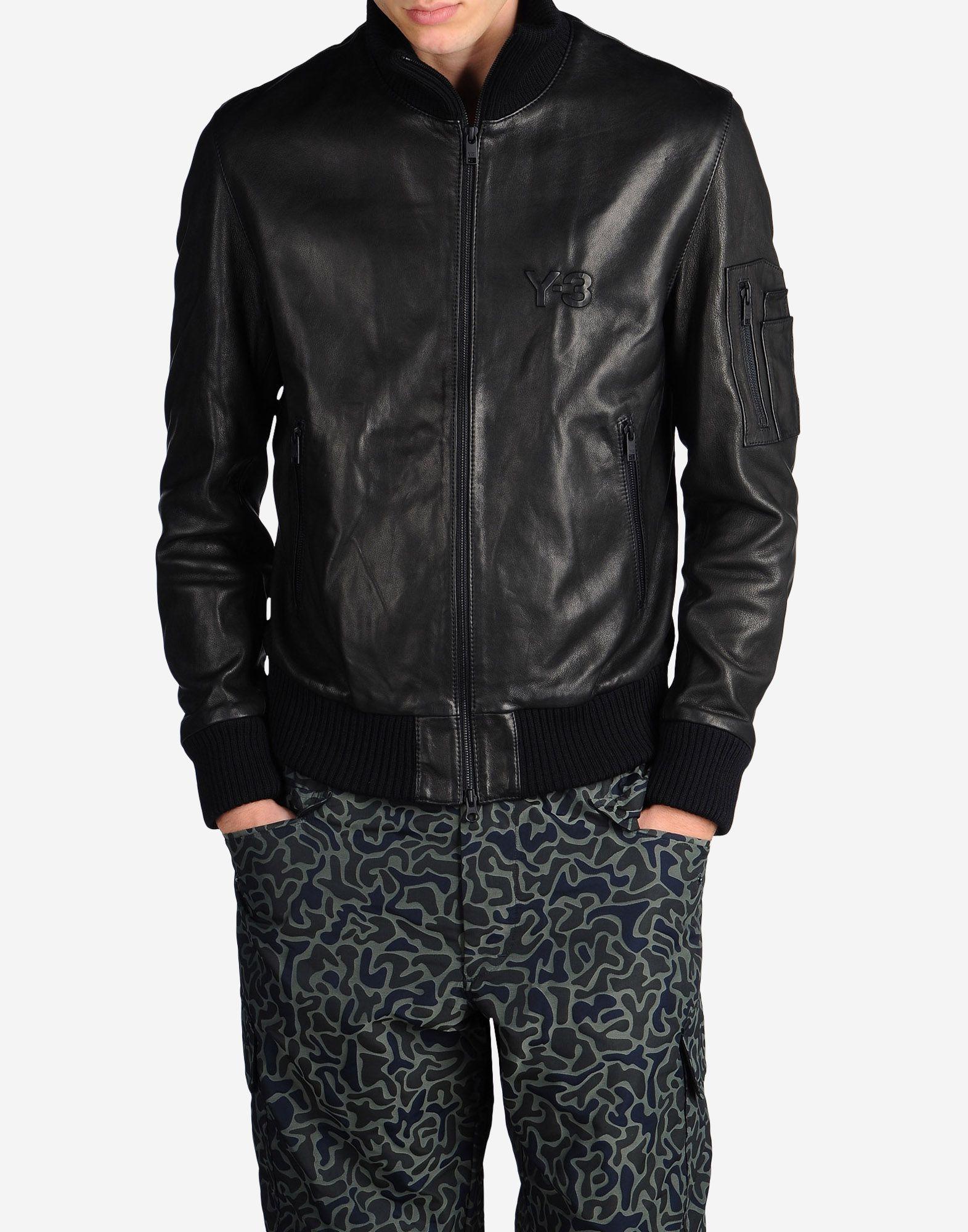 leather adidas jacket