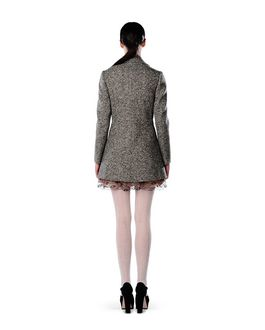 REDValentino Waxed tweed coat