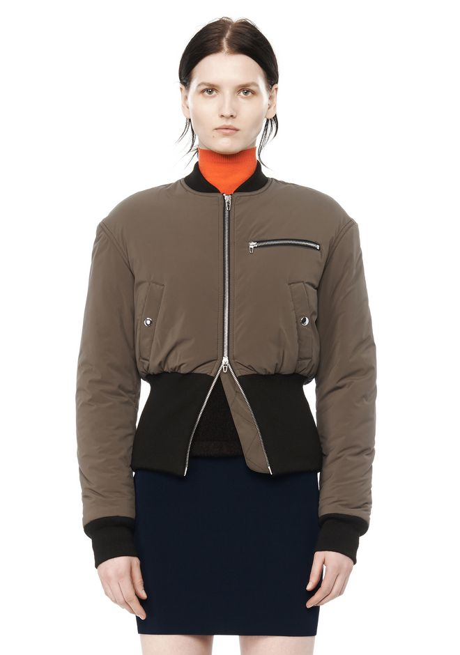 T by ALEXANDER WANG CROPPED PUFFER BOMBER JACKETS AND OUTERWEAR  Adult 12_n_e