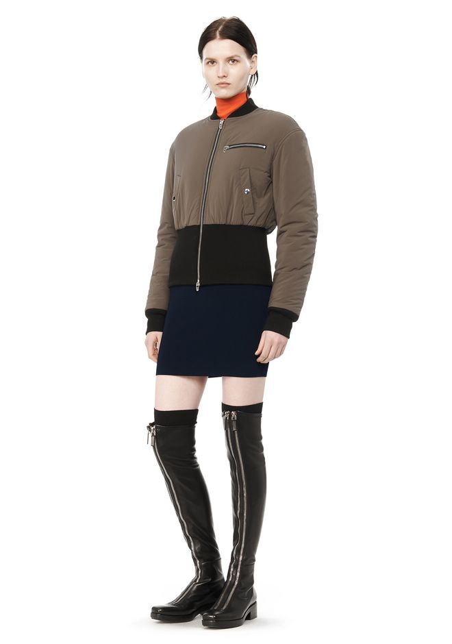 T by ALEXANDER WANG CROPPED PUFFER BOMBER JACKETS AND OUTERWEAR  Adult 12_n_f