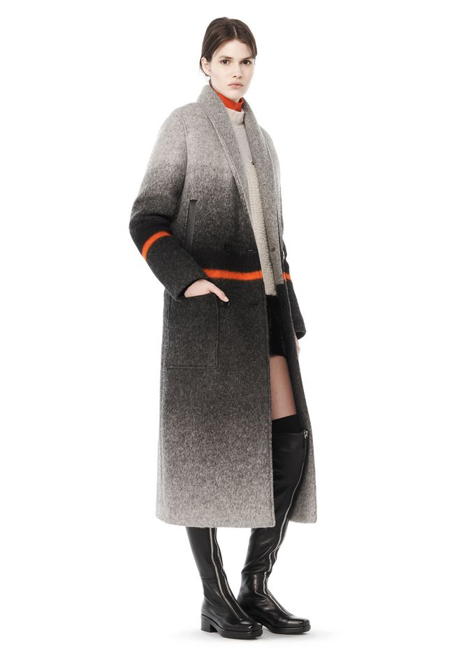 DOUBLE BREASTED LONG CAR COAT   JACKETS AND OUTERWEAR   Alexander ...