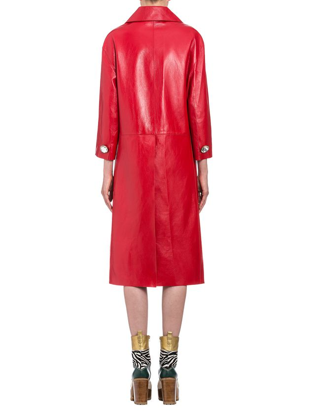 Marni Duster coat in shiny lambskin Woman
