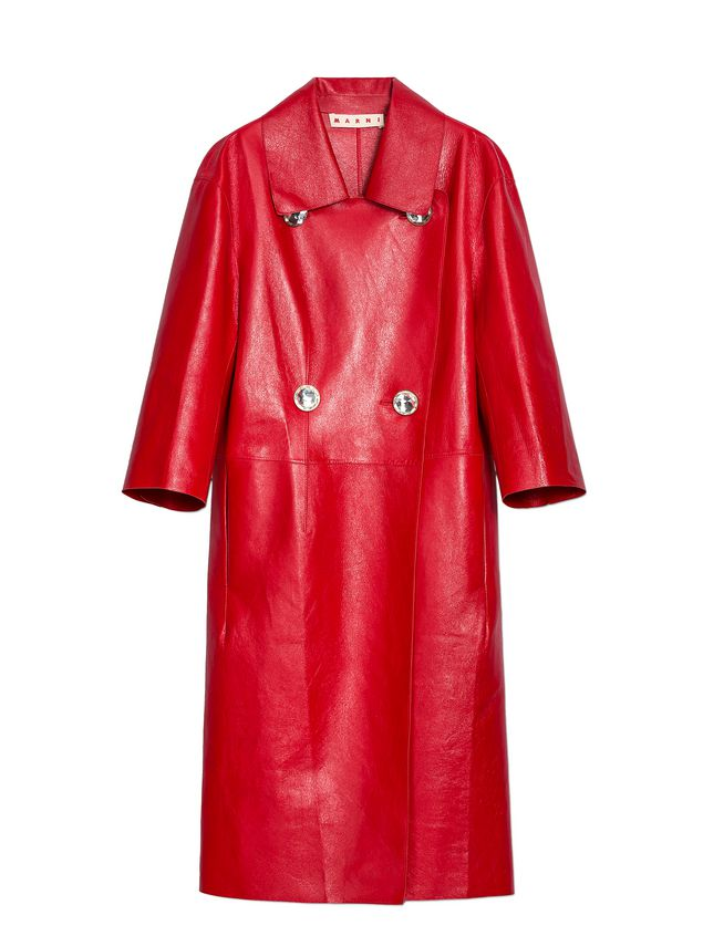 Marni Duster coat in shiny lambskin Woman - 2