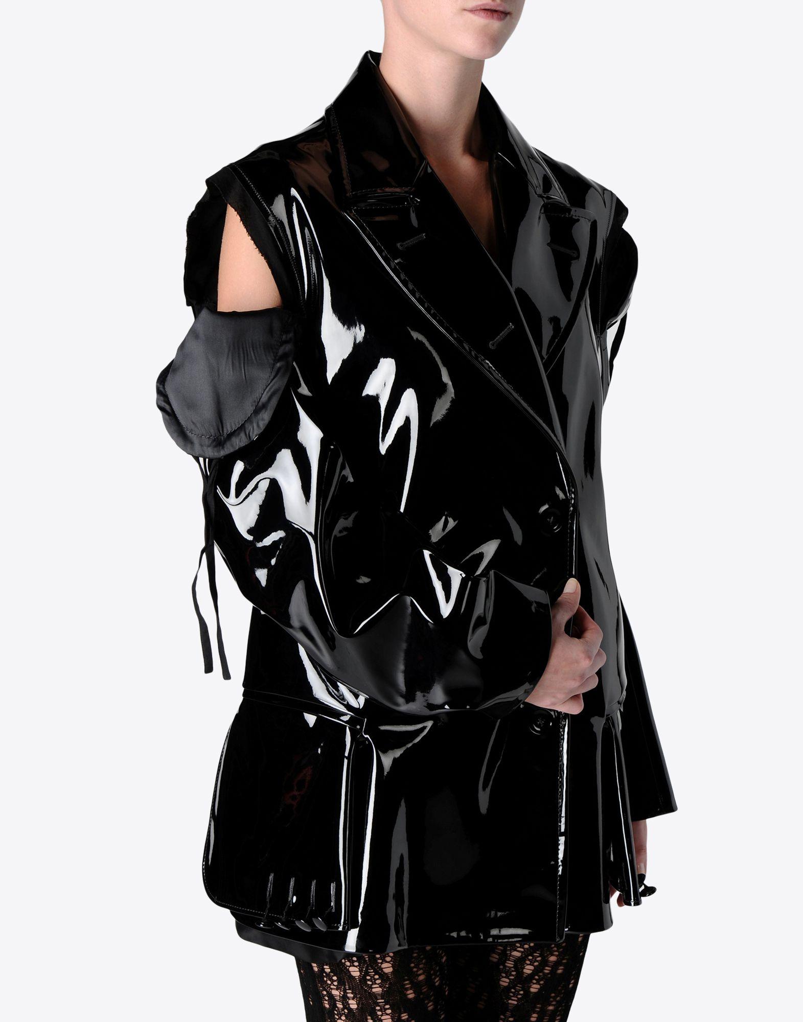 MAISON MARGIELA Oversized vinyl jacket Raincoat Woman e