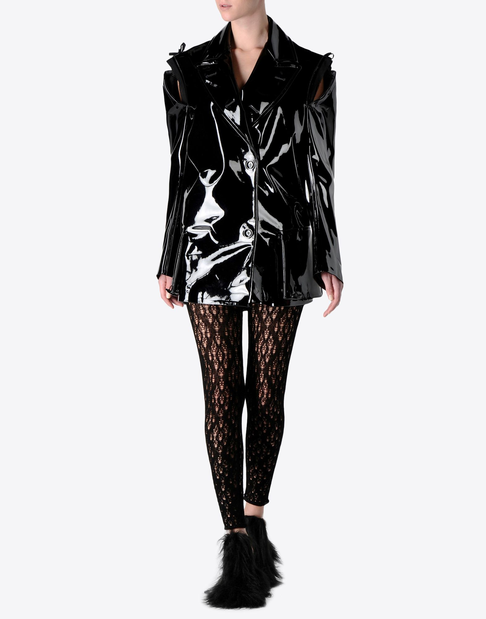 MAISON MARGIELA Oversized vinyl jacket Raincoat Woman f