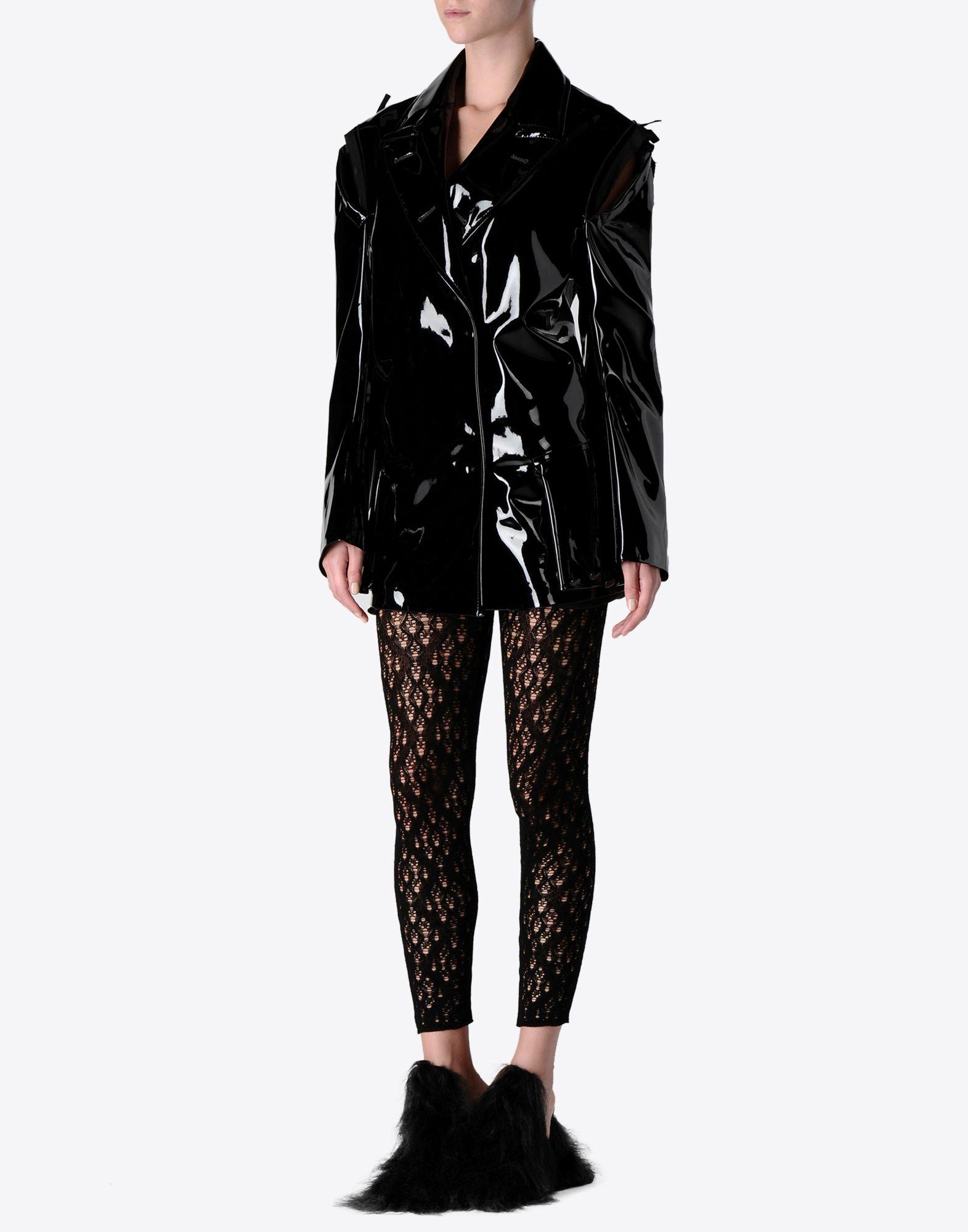 MAISON MARGIELA Oversized vinyl jacket Raincoat Woman r