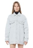 ALEXANDER WANG DAZE OVERSIZED DESTROYED DENIM JACKET DENIM Adult 8_n_e