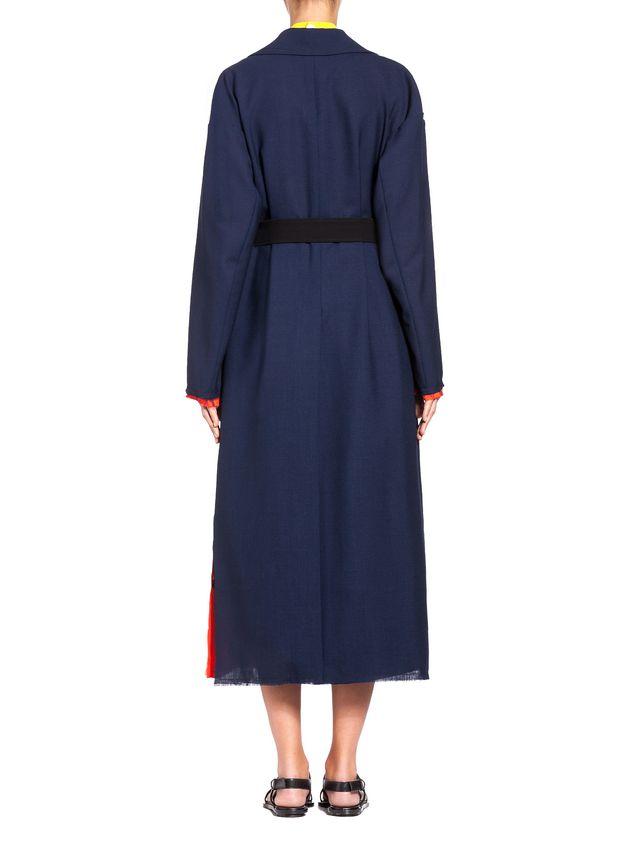 Marni Runway duster coat in 2-thread tropical wool  Woman