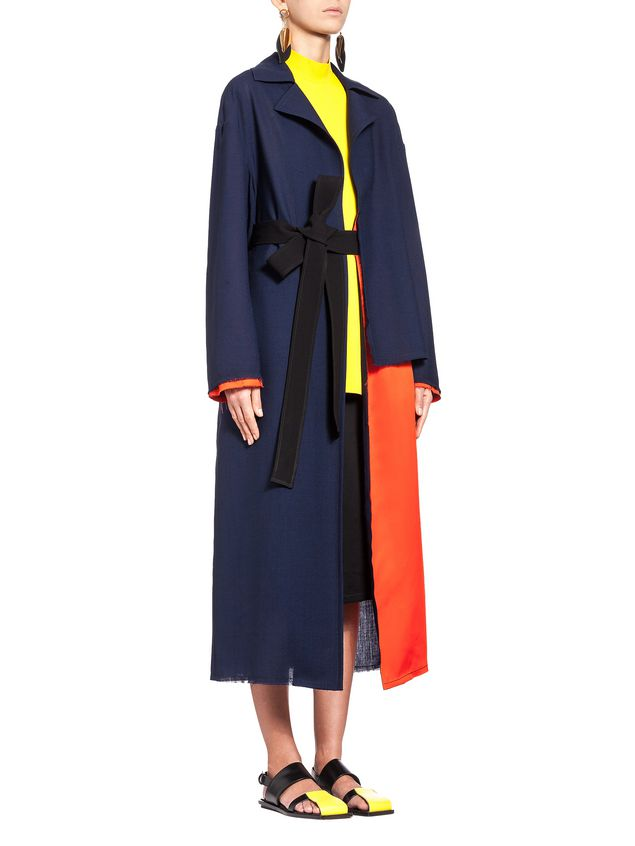 Marni Runway duster coat in 2-thread tropical wool  Woman - 4