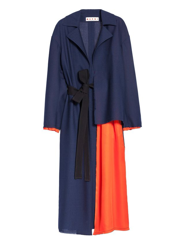 Marni Runway duster coat in 2-thread tropical wool  Woman - 2