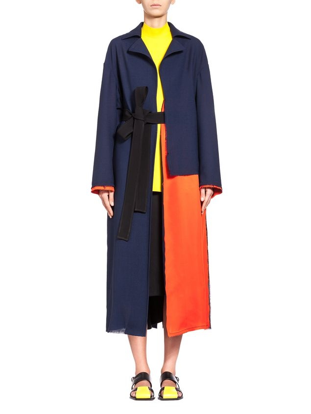 Marni Runway duster coat in 2-thread tropical wool  Woman - 1
