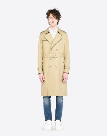 VALENTINO UOMO Trench U ROCKSTUD UNTITLED TRENCH COAT r