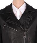 KARL LAGERFELD Leather biker w/ neoprene 8_e