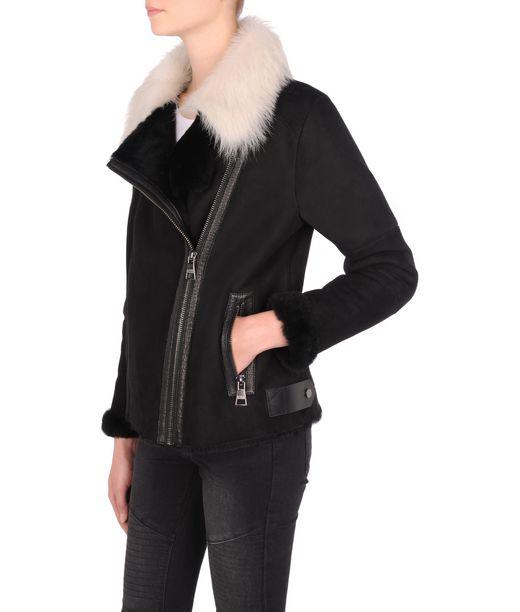 KARL LAGERFELD Shearling biker jacket 12_f