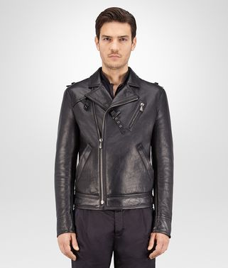 BIKER IN DARK ARDOISE LEATHER