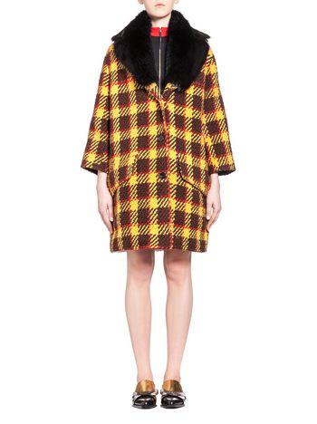 Marni Coat in bouclé check wool 3D effect  Woman