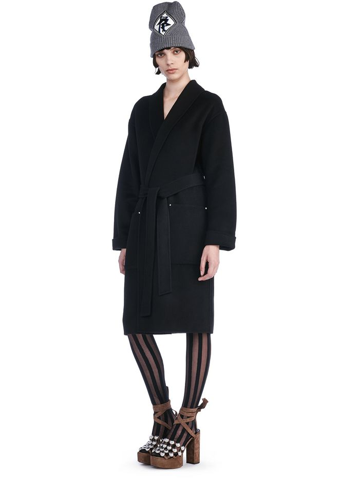 ALEXANDER WANG JACKETS AND OUTERWEAR  BELTED ROBE COAT WITH PATCH POCKETS
