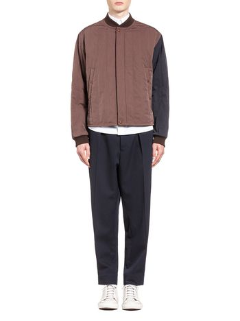 Marni Jacket in padded fabric with contrasting colors Man