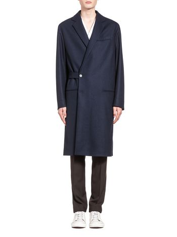 Marni Wool coat with half-belt closure Man
