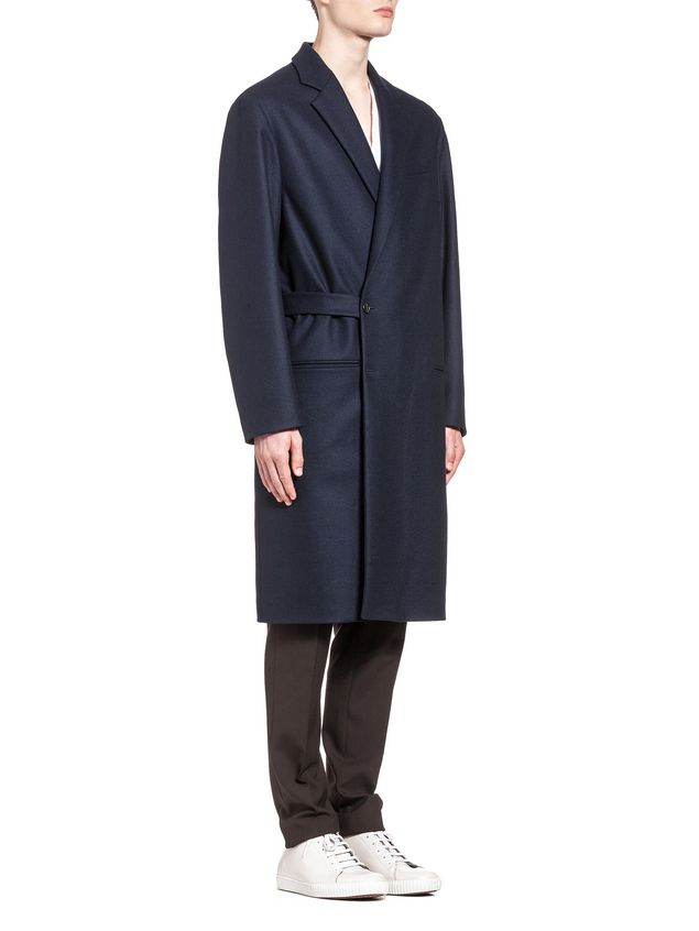 Marni Wool coat with half-belt closure Man - 4