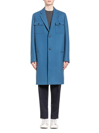 Marni Coat in wool cloth with patch pockets Man