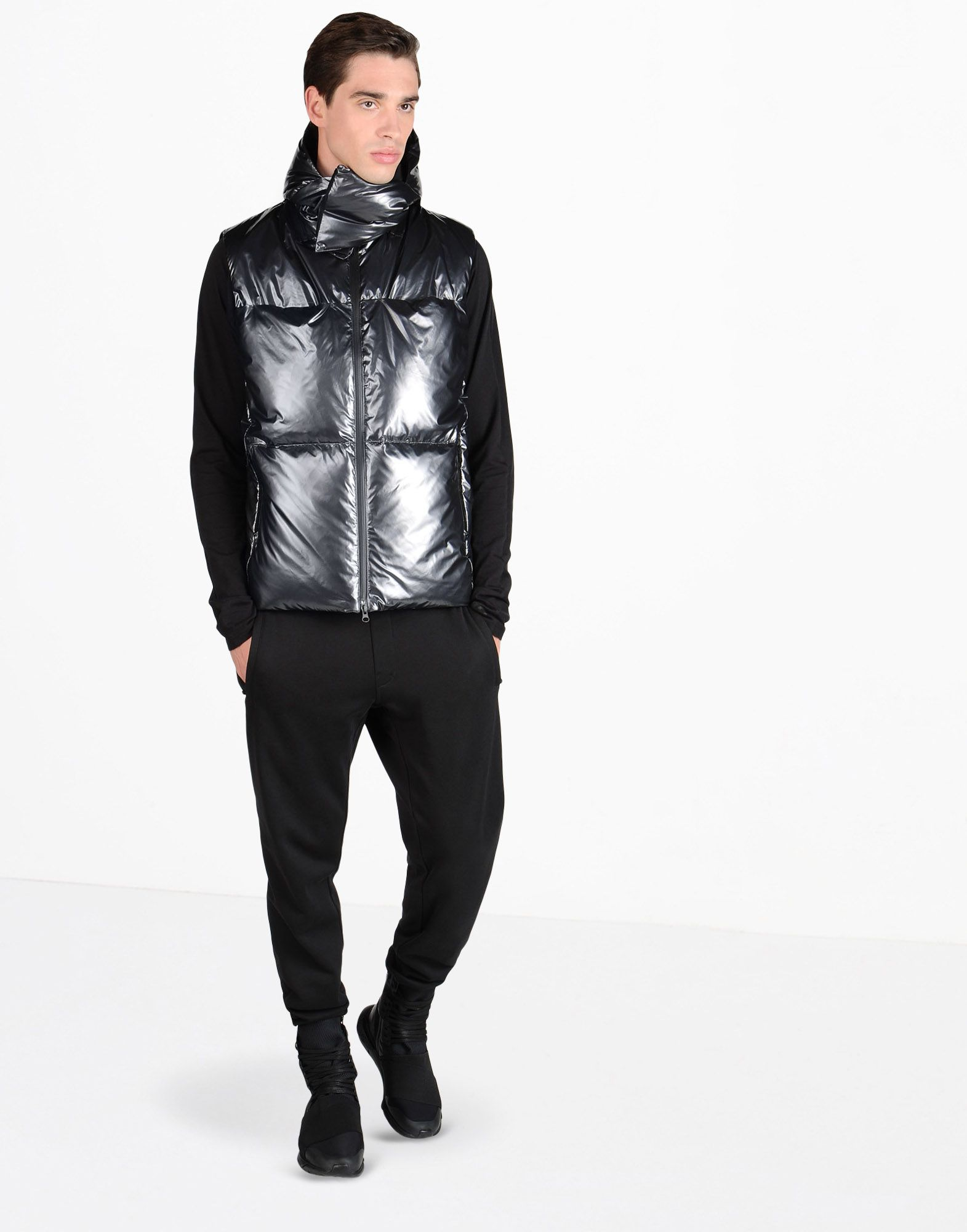 Y-3 NYLON DOWN VEST COATS & JACKETS man Y-3 adidas