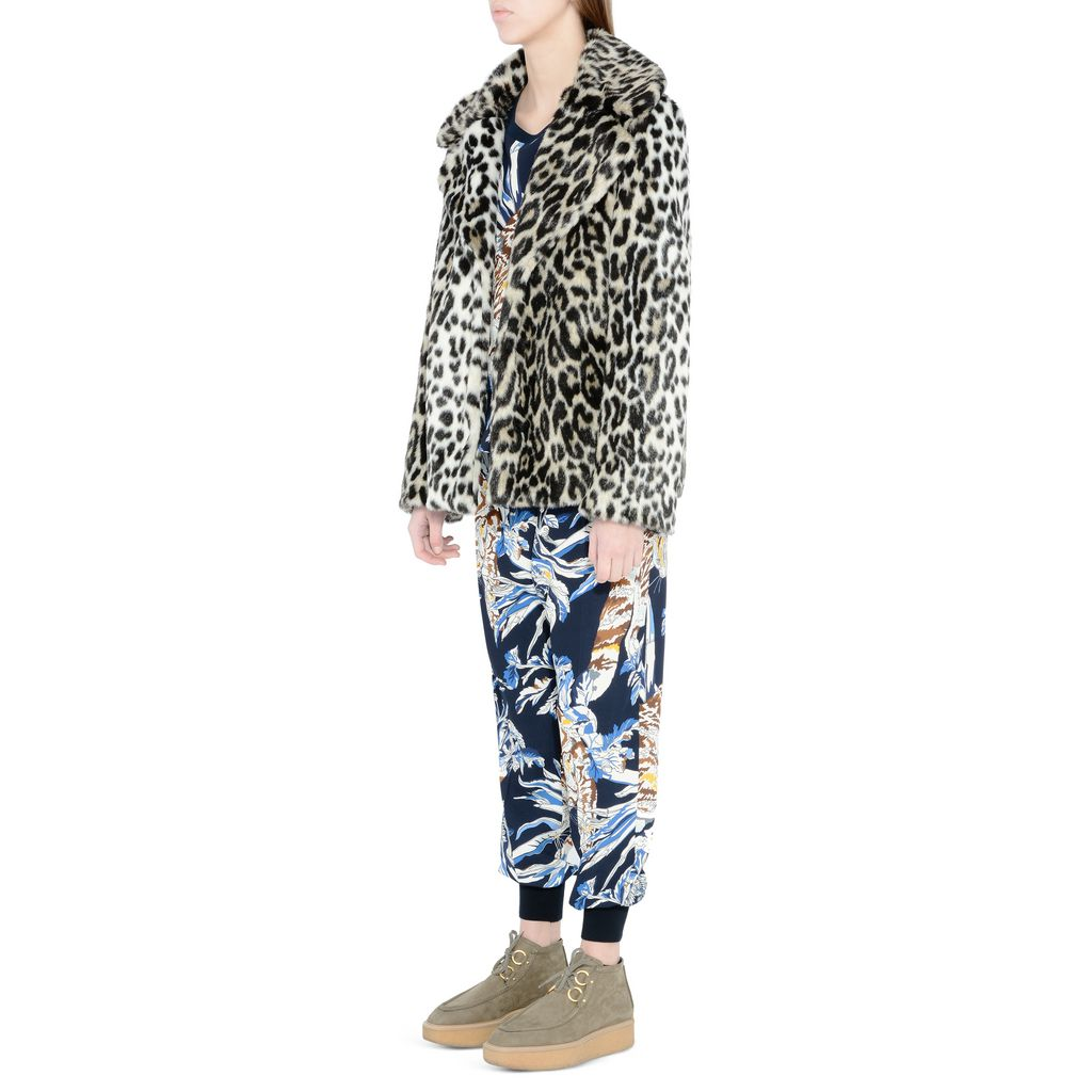 Leopard Fur Free Fur Dan Coat - STELLA MCCARTNEY