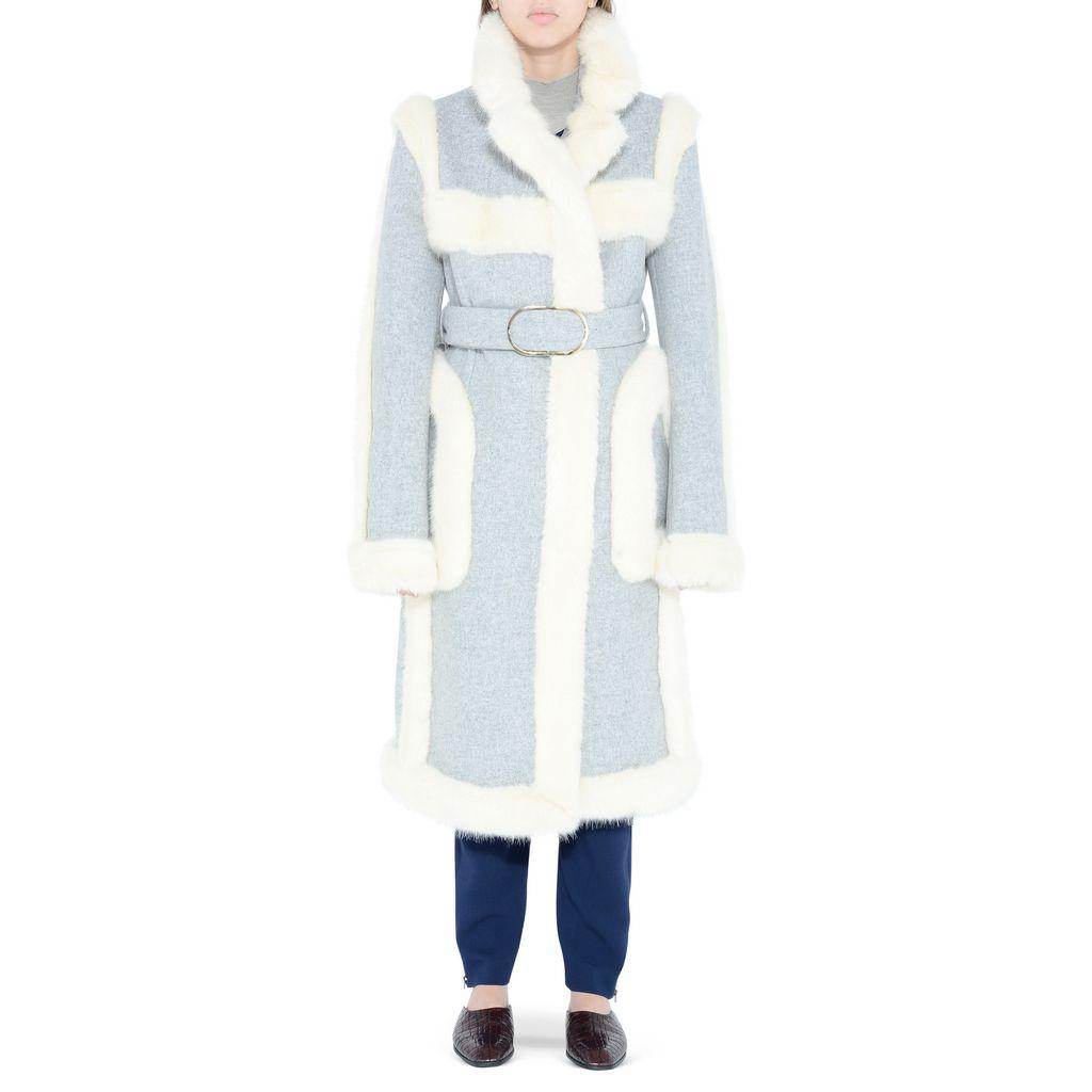 Felt Grey Galiena Coat - STELLA MCCARTNEY