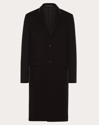 VALENTINO UOMO COAT U ROCKSTUD UNTITLED COAT f