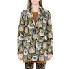 STELLA McCARTNEY Cat Jacquard Daria Coat Mid D d