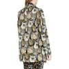 STELLA McCARTNEY Cat Jacquard Daria Coat Mid D e