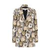 STELLA McCARTNEY Cat Jacquard Daria Coat Mid D f