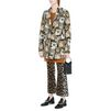 STELLA McCARTNEY Cat Jacquard Daria Coat Mid D r