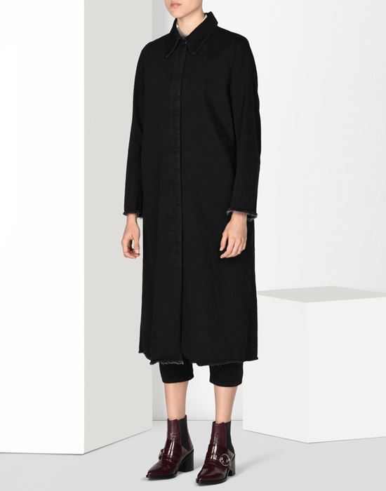 MM6 MAISON MARGIELA Long denim coat Coat D f