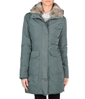 NAPAPIJRI ARONA WOMAN LONG JACKET,EMERALD GREEN