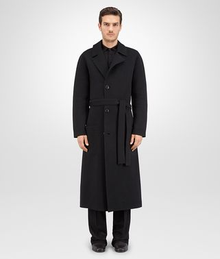 COAT IN NERO KNITTED WOOL CASHMERE