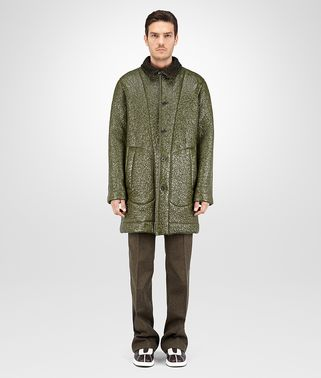 COAT IN DARK SERGEANT GLOSS TWEED WOOL