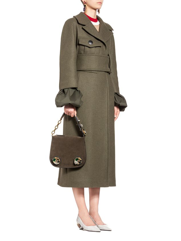 Marni Runway coat in felted wool Woman - 4