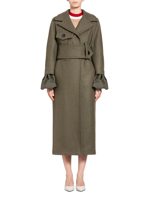 Marni Runway coat in felted wool Woman - 1