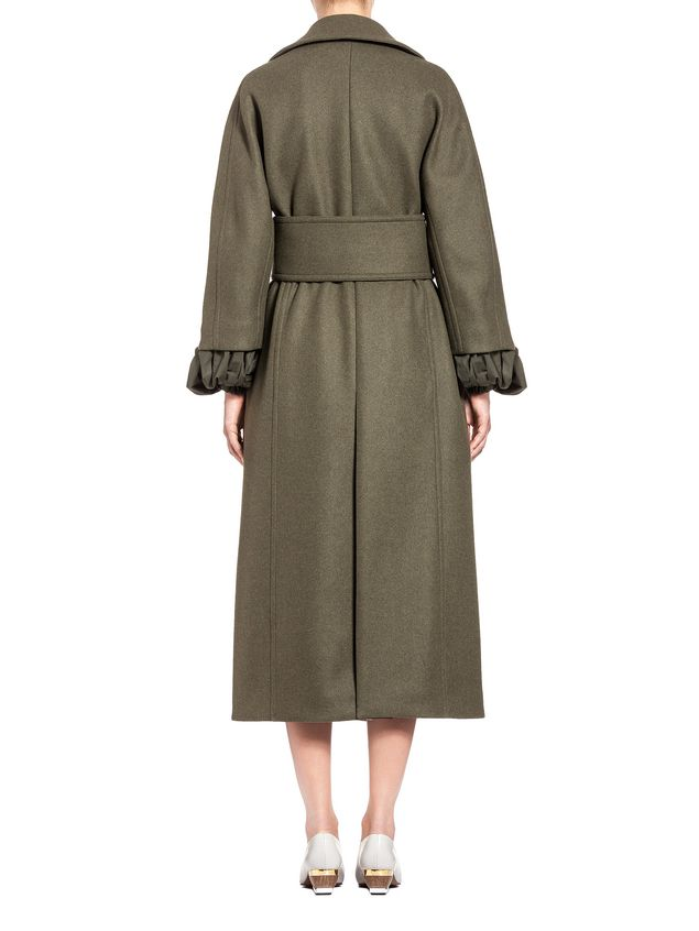 Marni Runway coat in felted wool Woman - 3