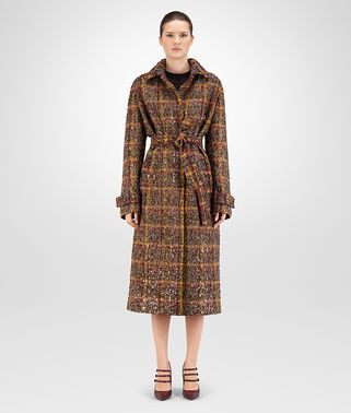 COAT IN MULTICOLOR WOOL CHECK PAILLETTES EMBROIDERY