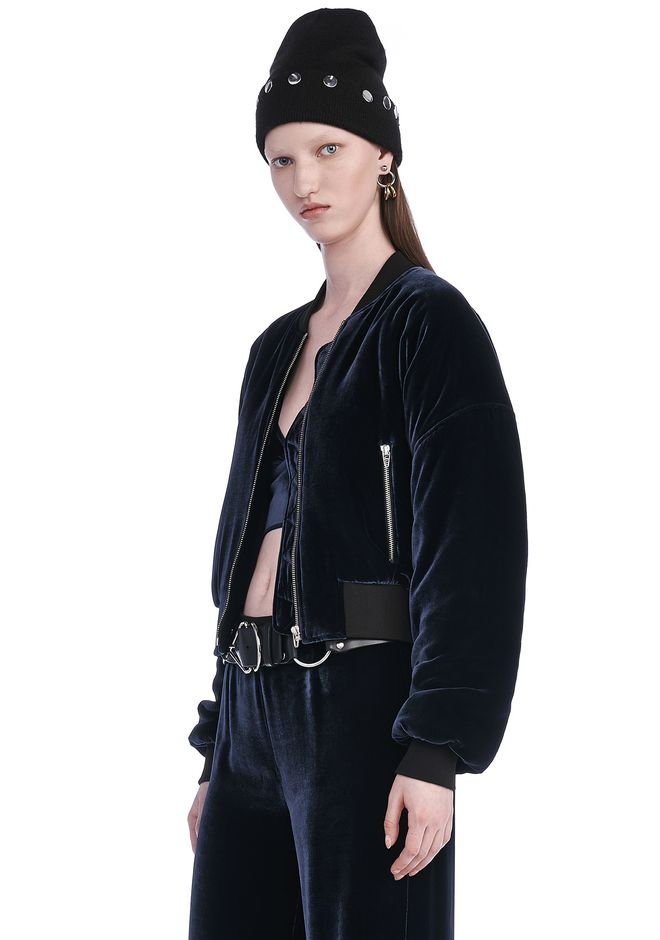 T by ALEXANDER WANG SILK VELVET BOMBER JACKETS AND OUTERWEAR  Adult 12_n_a