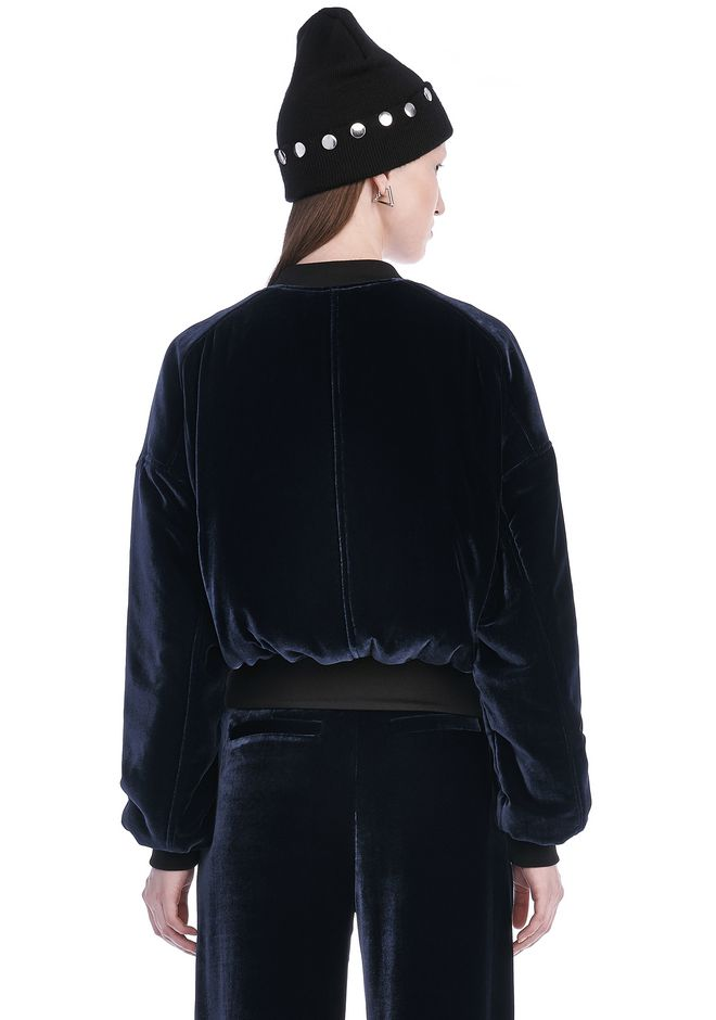 T by ALEXANDER WANG SILK VELVET BOMBER JACKETS AND OUTERWEAR  Adult 12_n_d
